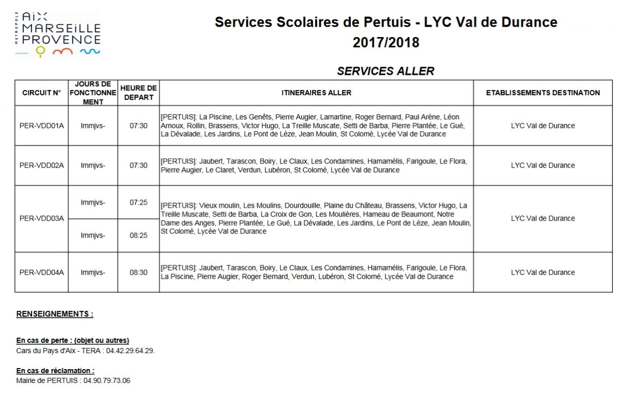 note service changement horaire