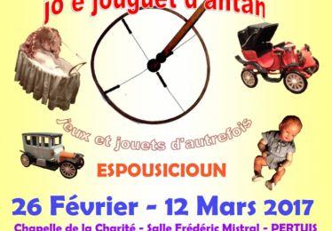 """Exposition """"Jeux et jouets d'antan"""" avec Li Reguignaire dou Luberoun"""