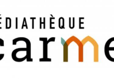 Le logo de la médiathèque des Carmes