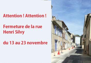 Fermeture de la rue Henri Silvy du 13 au 23 novembre