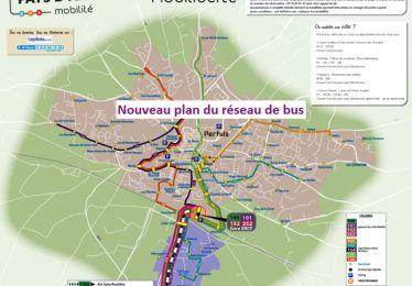 Plan du réseau de bus Pays d'Aix mobilité