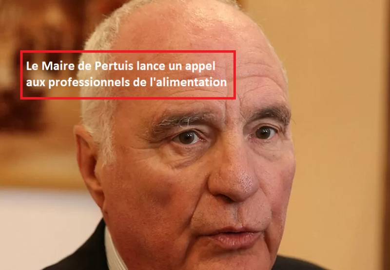 Message du Maire de Pertuis à destination des professionnels de l'alimentation
