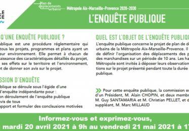 Enquête publique Plan de Déplacements Urbains Métropolitain 2020-2030