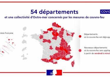 Le Vaucluse soumis au couvre-feu dès samedi 00h01