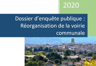 Enquête publique projet de réorganisation de la voirie communale