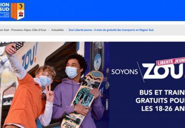 Gratuité des transports Zou région Sud pour les jeunes de 18 à 26 ans du 1er septembre au 31 décembre 2021