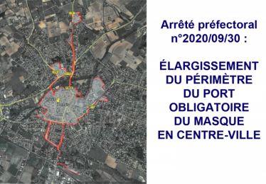 Elargissement du périmètre du port obligatoire du masque en centre-ville de Pertuis