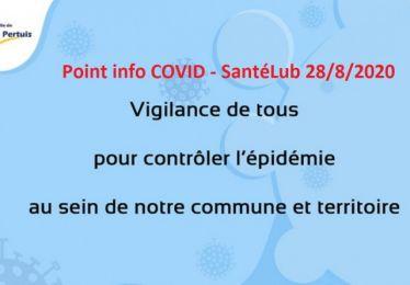 Mise à jour du 1/9 : Point info COVID SantéLub, le virus continue sa propagation
