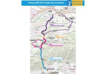 Travaux de chaussée entre Apt et Lourmarin (RD943) : la phase 1 prolongée jusqu'au 4 mai