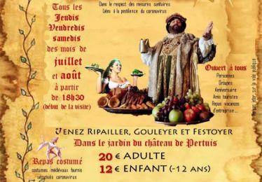 Ripailles médiévales (repas médiéval) : cet été, venez découvrir votre ville et ripailler en costume d'époque !