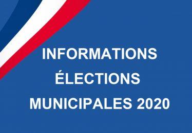 Informations élections 2020
