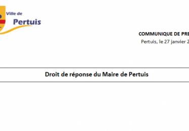 Droit de réponse du Maire de Pertuis